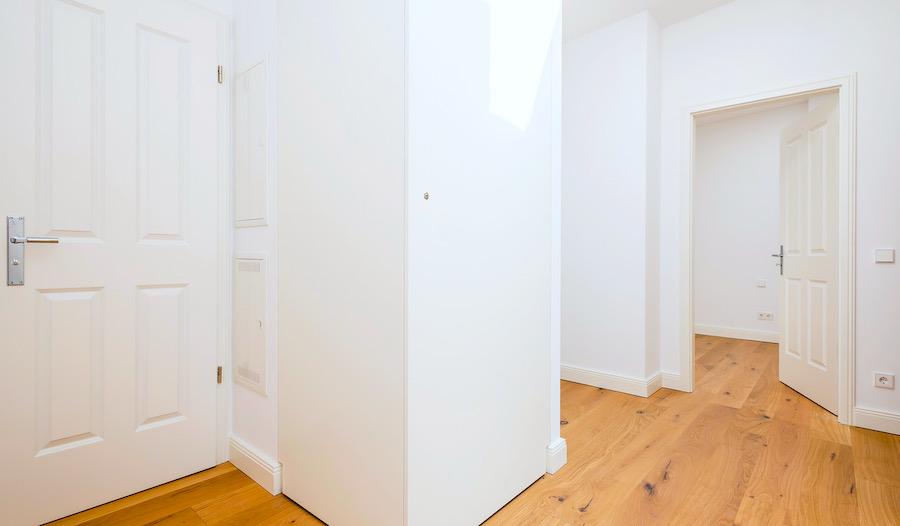 Wohnungsflur 2020 2301 Hochwertige 3-Zimmer-DG-Wohnung Erstbezug, Südterrasse mit Panoramablick, direkt am Prenzlauer Berg o-62925